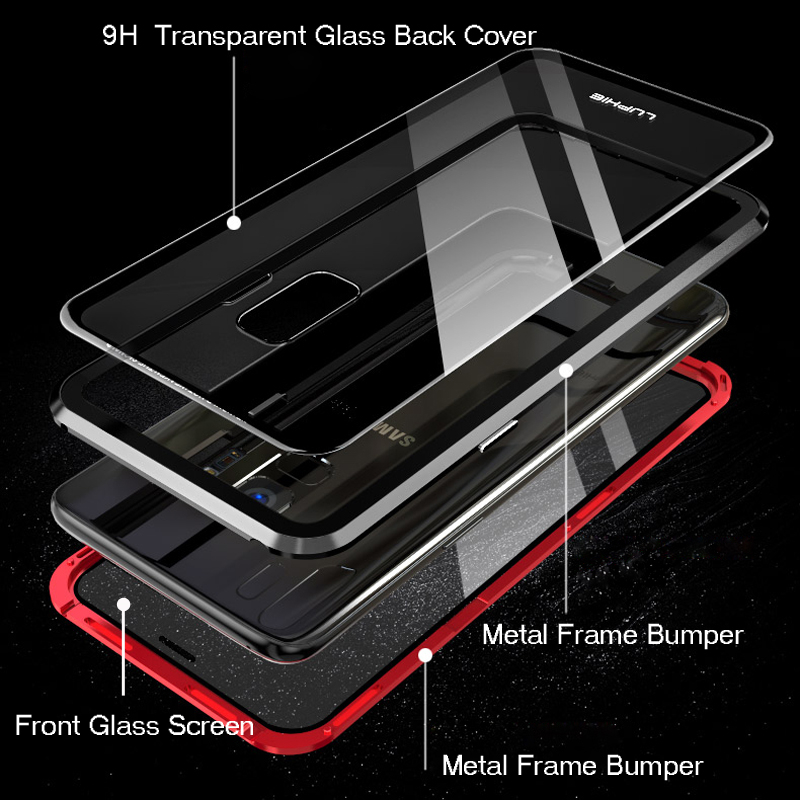 Metal Armour Case For Samsung Galaxy Phones, magnetic adsorption case for Samsung galaxy phones, Metal magnetic case for samsung phones, Samsung galaxy phone case