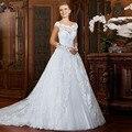 Принцесса старинные кружева свадебное платье кристалл кушак Vestido Novia Casamento дешевой цене свадебные платья 2015 быстрая доставка новый