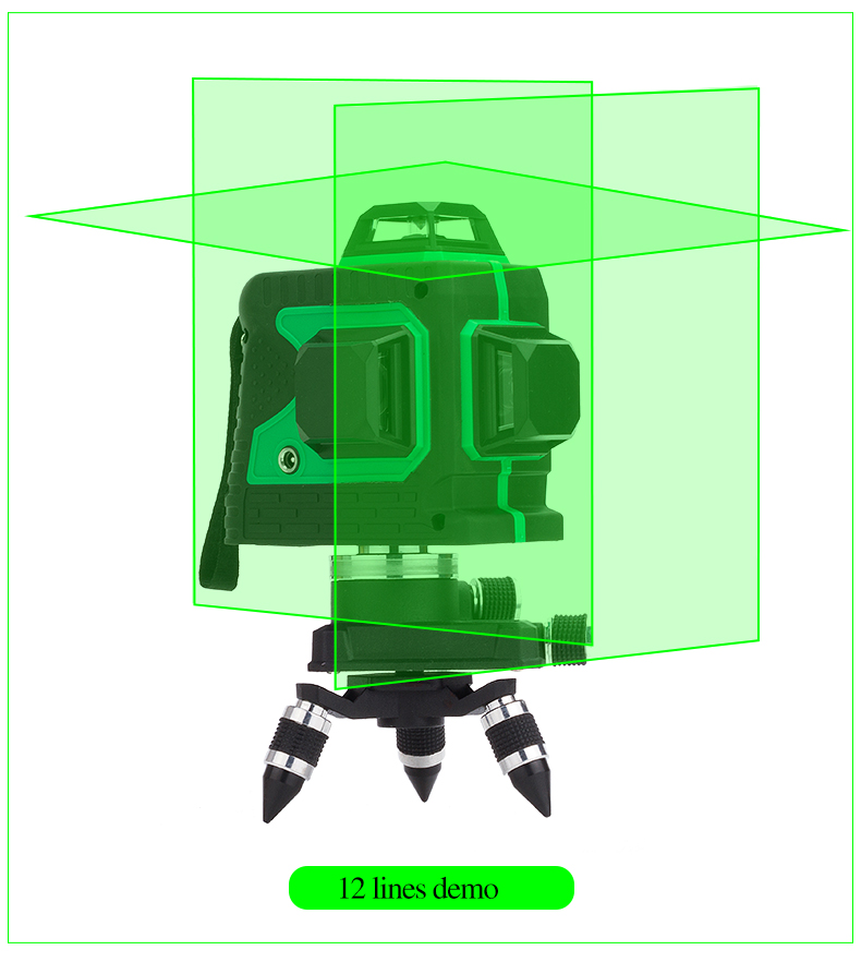 NEW 3D Laser Level Self-Leveling 360 Horizontal And Vertical Cross Laser Beam Line