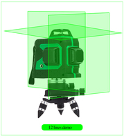 NEW 3D Laser Level Self Leveling 360 Horizontal And Vertical Cross Laser Beam Line