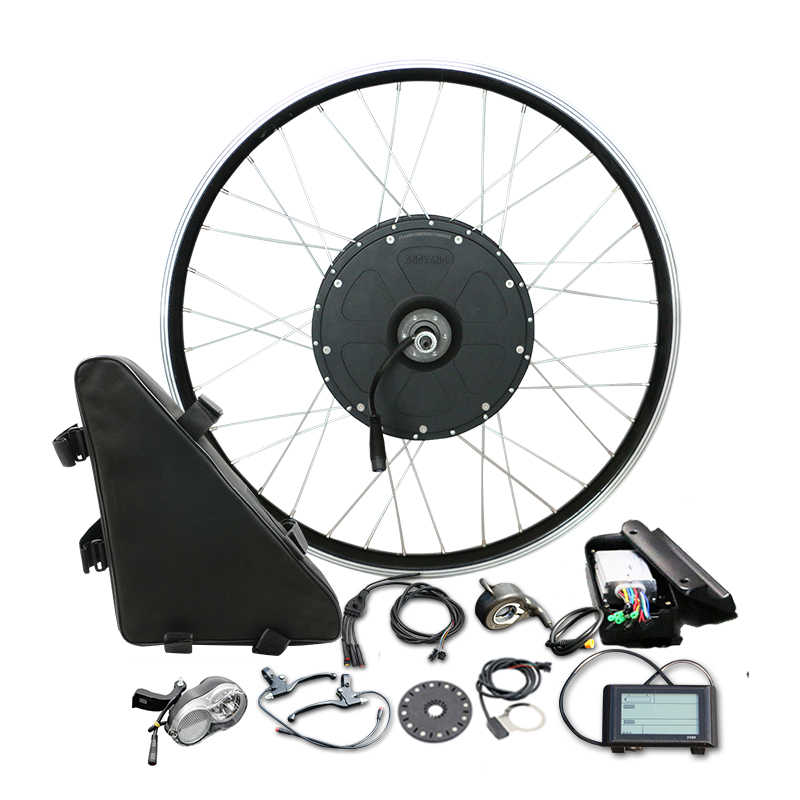 48V 1000W Electric Bicycle Motor Wheel Triangle Bag Big Power Bike Conversion Kit for 26'' 700C Rear Wheel MTB BMX Ebike Parts