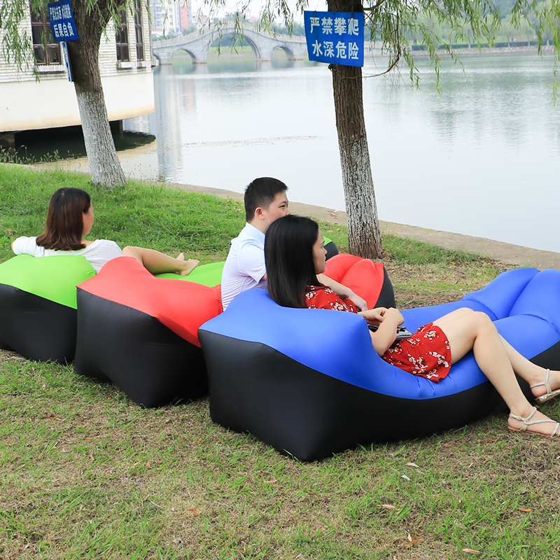 For Outdoor Using Garden Sofas Lazy Bag Inflatable Air Sofa Beach Bed Lounger Bag Mattres Sleeping Lazy Bag Air Sofa Bed Bag