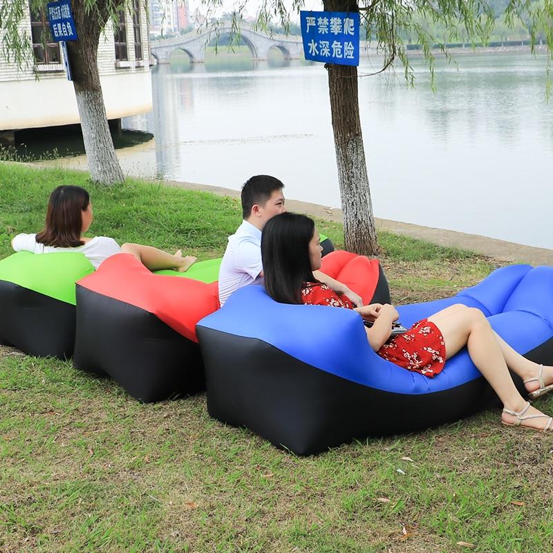 For Outdoor Using Garden Sofas Lazy Bag Inflatable Air Sofa Beach Bed Lounger Bag Mattres Sleeping Lazy Bag Air Sofa Bed Bag