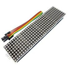 Microcontrolador de módulo de matriz de puntos MAX7219 de 10 piezas 4 en una pantalla con línea de 5 P 4 en 1