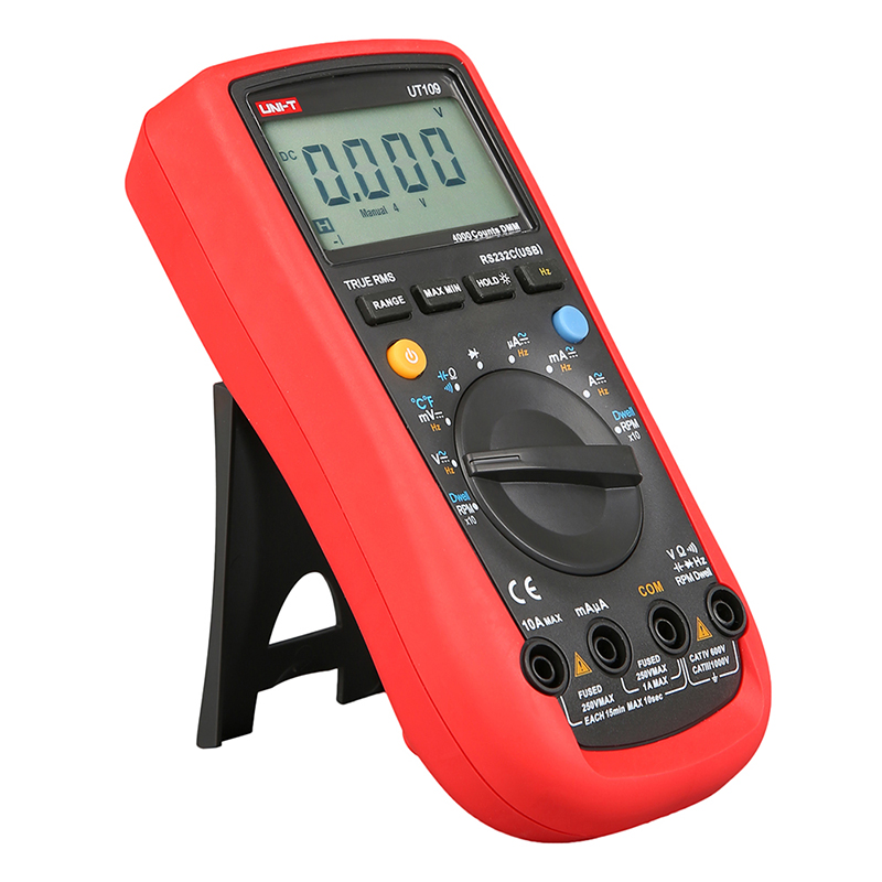UT109 Digital Automotive Multimeter Handheld Automotive Multi-Purpose Meters Ammeter Ohm Volt Hz Digital Universal Meter UNI-T  цены
