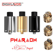 Digiflavor Pharaoh 25 Rebuildable Dripper Tank Atomizer with 2ml Capacity RDA from RiP Trippers for Box Mech MOD Battery e-Cigs