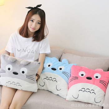 1pc 40cm Cute Totoro Plush Pillow 3 Colors Staffed Cartoon Totoro Cushion Kawaii Toy for Girls Nice Birthday Gift 1pc 40cm