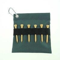 Tees GOLF bag 75 SZTUK Naturalne drewniane tees golf golf drewniane trójniki z Nylonu torba uchwyt i przypadku darmo wysyłka