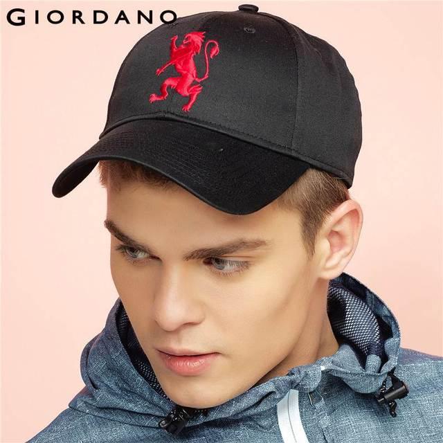 eff87da146a22 Giordano hombres gorra de béisbol marca ropa bordado León algodón Casquette Gorras  Hombre