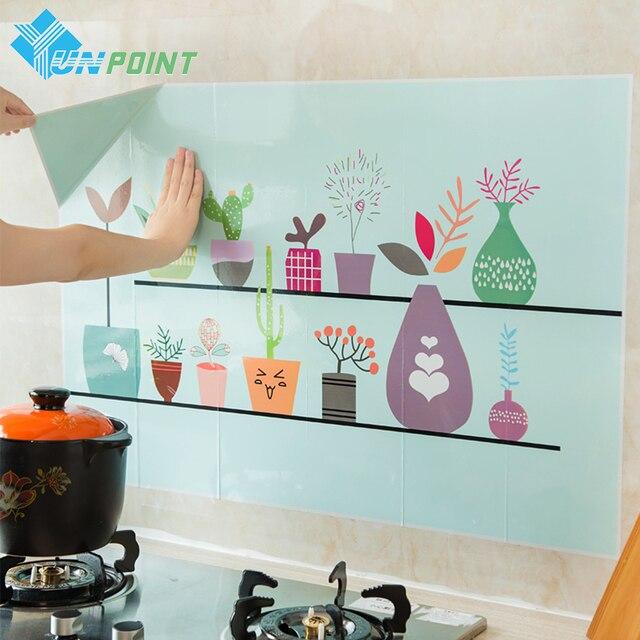 Us 597 30 Off6090 Cm Kuchnia Oleju Dowód Naklejki ścienne Kreatywny Naklejka Art Mural Home Decor Waterproof Płytki łazienkowe Naklejki