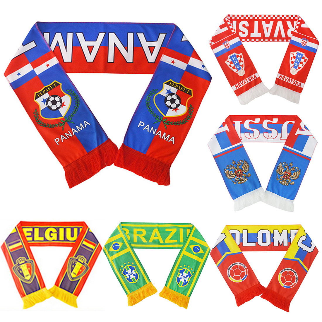 New Football Scarf Soccer Ball Fan Scarf 12 Teams Flag Banner Calcio Bola De Futebol Cheerleaders Scarf Top Quality