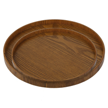 Original Tableware Wooden Tea Plate Hand-Made Natural Serving Tray 21CM/30CM