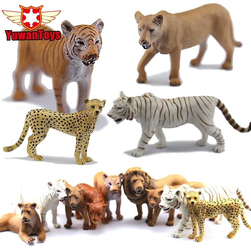 PVC Toys Tiger Wild Animal Lion Cheetah Collectible-Toys Model-Series Very-Realistic