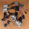 Carro Styling 35 W AC ESCONDEU Luzes de Nevoeiro Lente Do Projetor Retrofit Kit completo com LED Angel Eyes de Halo Lâmpadas de Condução Da Frente Universal