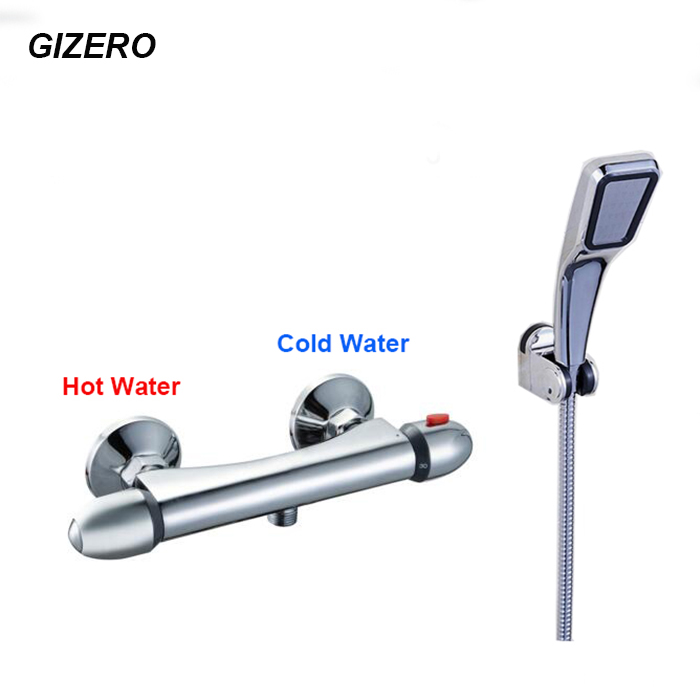 newly chrome shower faucet thermostatic mixing valve wall mounted bathroom bathtub mixer faucet ZR999 beelee high quality chrome wall mounted bathroom thermostatic faucet thermostatic valve bathroom shower faucet bathtub faucet