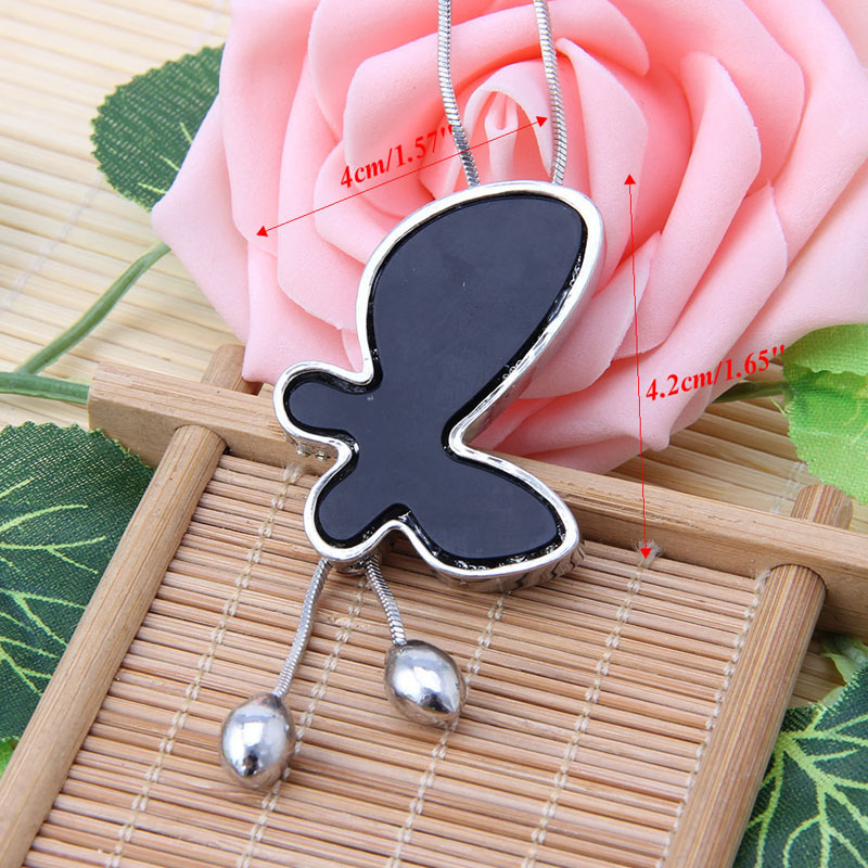 Fashion Women Bowknot Pendant Necklace Butterfly Long Sweater Chain Necklaces