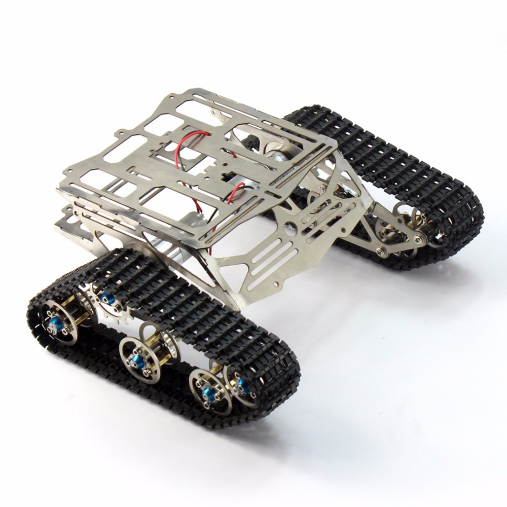 Metal Tank Robot Chassis Track Arduino Tank Crawler Chassis Wali with Motor Stainless Stee Smart DIY Toy F17340 unassembled tank chassis enhanced version climbing obstacle metal crawler chassis for smart car track robot model diy parts