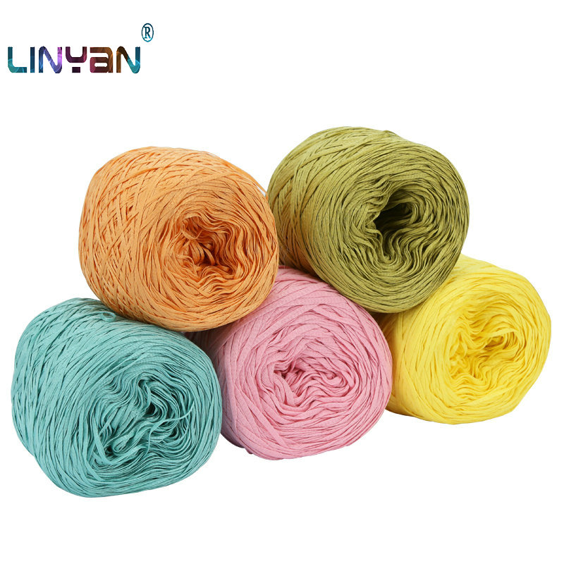 100G/Lot Cotton Ribbon Thread Knitwear Hand Knitting Yarn For Knitting & Crocheting Wide Cloth Hook Package Line Wholesale ZL50