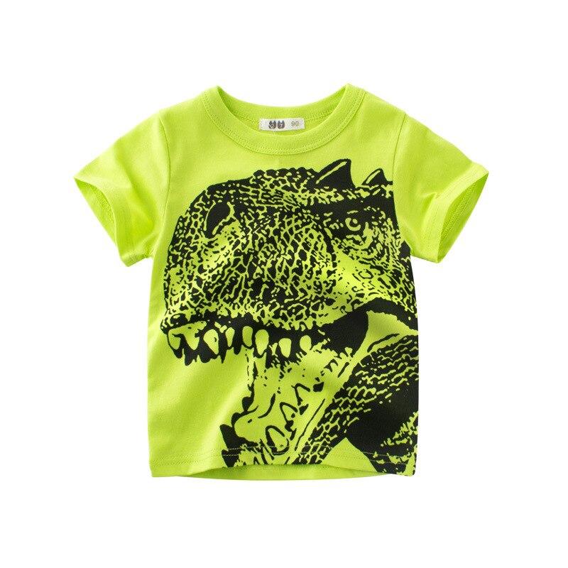 BogiWell 2018 New 24M-10Y 100% Cotton Summer Cotton Short Sleeve Dinosaur Print T Shirts Kids Boys Children Clothing Tee&Top цена