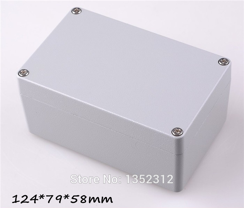 One pcs 124*79*58mm IP68 aluminum cable junction box power supply ...