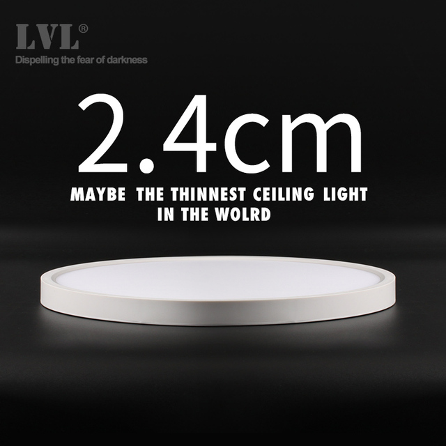 Modern LED Ceiling Light 12W 18W 24W 32W 220V 5000K Kitchen Bedroom Bathroom Lamps Ultrathin Ceiling Lamp