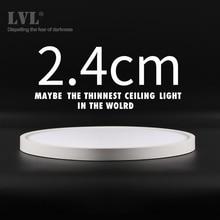 Moderne Led Plafondlamp 12W 18W 24W 32W 220V 5000K Keuken Slaapkamer Badkamer Lampen ultradunne Plafondlamp