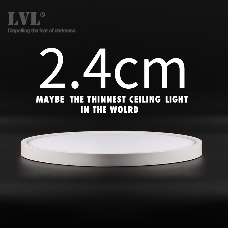 Moderno led luz de teto 12 w 18 24 32 220 v 5000 k cozinha quarto banheiro lâmpadas ultrafinos lâmpada do teto