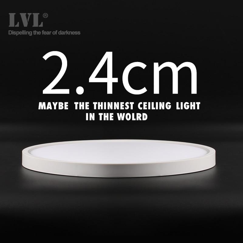 Plafond moderne à LEDs lumière 12W 18W 24W 32W 220V 5000K cuisine chambre salle de bain lampes ultra-mince plafonnier