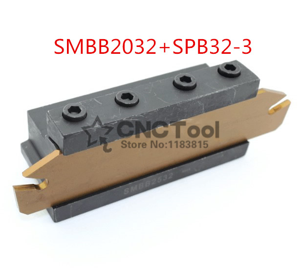 Free delivery of SPB32 3 NC cutter bar and SMBB2032 CNC turret set Lathe Machine cutting