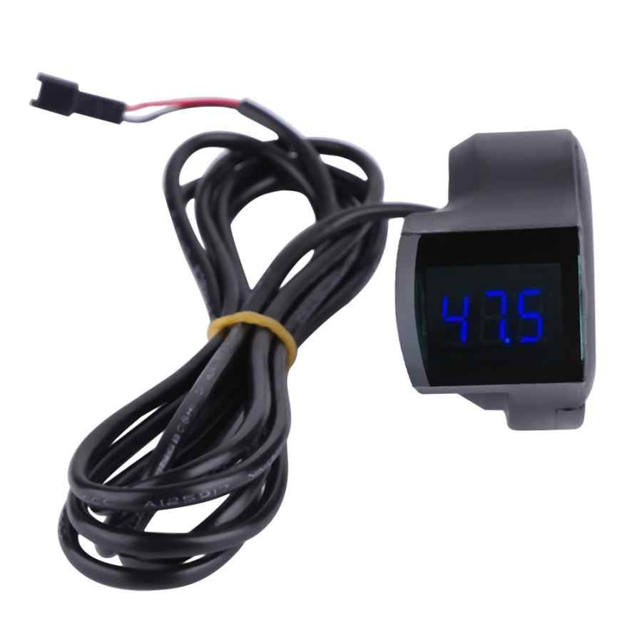 Electric Bicycle Voltage Display Handlebar Voltmeter Display for Scooter Electric Bike Bicycle E-bike Accessories