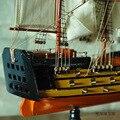 """1 шт. Подарки и Декор 24 """"ручной парусная лодка Подробную Деревянная Модель Морских Декора через EMS доставка."""