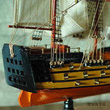 1pcs Gifts Decor 24 handmade sailing boat Detailed Wooden Model Nautical Decor via EMS shipping