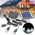 2 в 1 система солнечного света 3 шт. 1 Вт Светодиодная Солнечная лампа 4 Вт 6 в солнечная панель Портативный внешний аккумулятор для наружного к...
