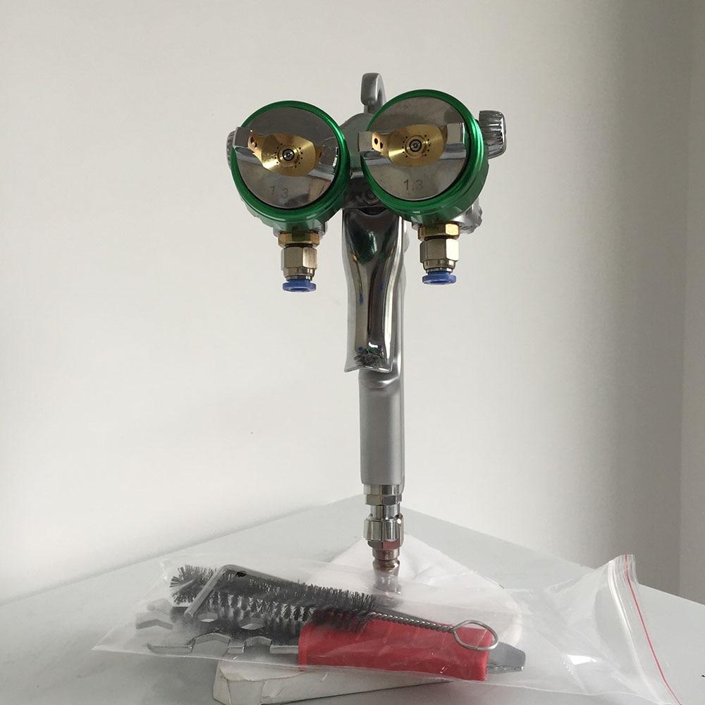 цена на SAT1189 painting spray machine professional air paint sprayer high pressure dual head compressed air gun chrome plating machine