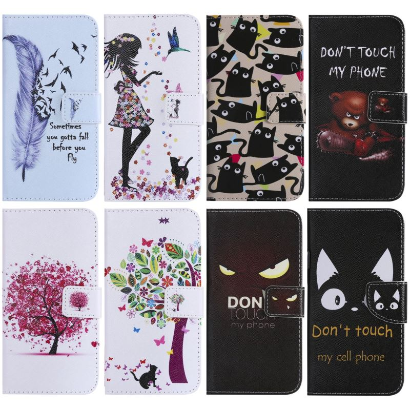 Cute Flip Leather Case For Funda LG G6 G5 LS770 Leon Spirit K3 K7 K8 2017 K10 Q8 2018 Girl Bear Leopard Cases Wallet Cover P06Z