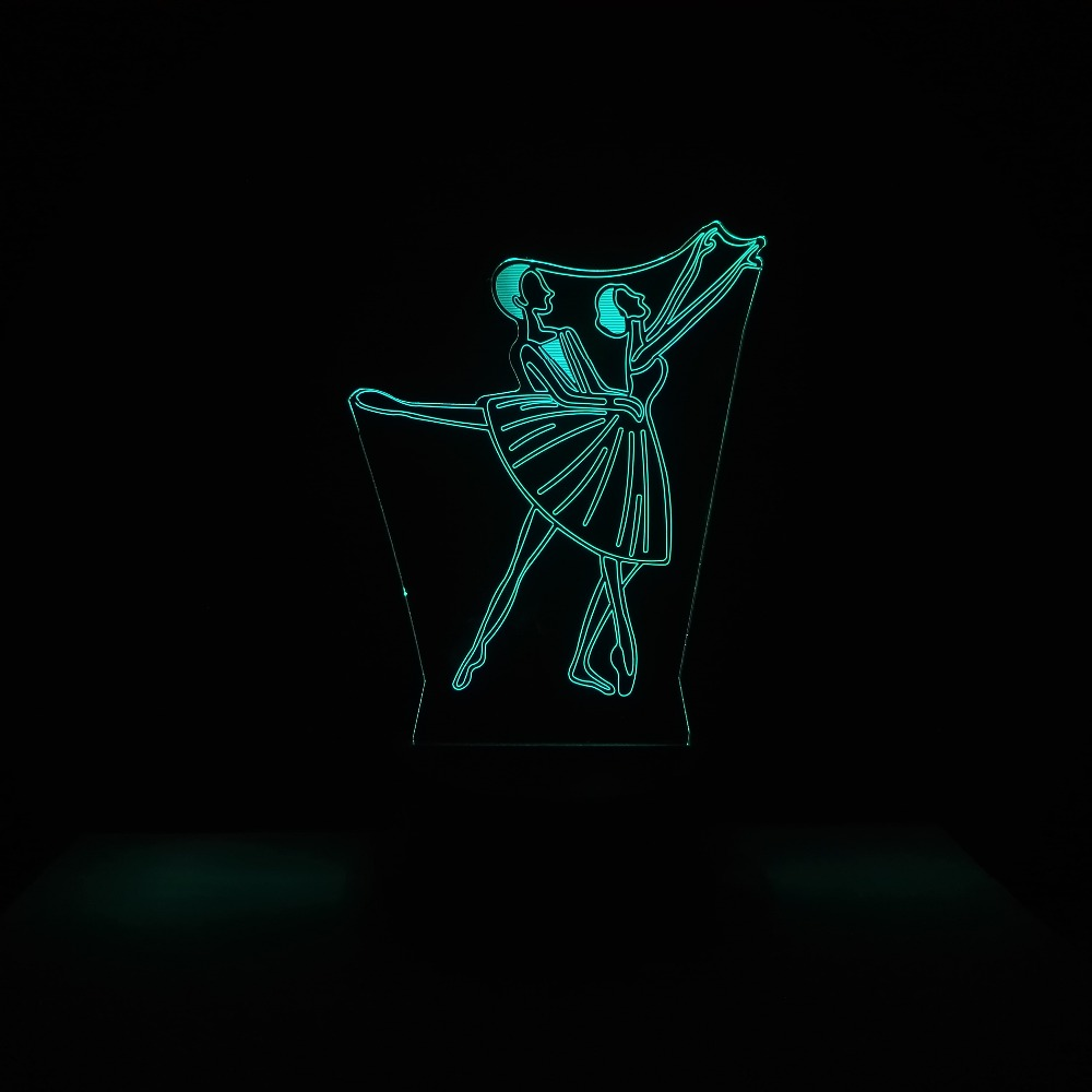3D Visual 7 Color Changing Illusion Led Art Dancers Molding Luminarias Decor USB Table Lamp Creative Children Gifts Night Lights