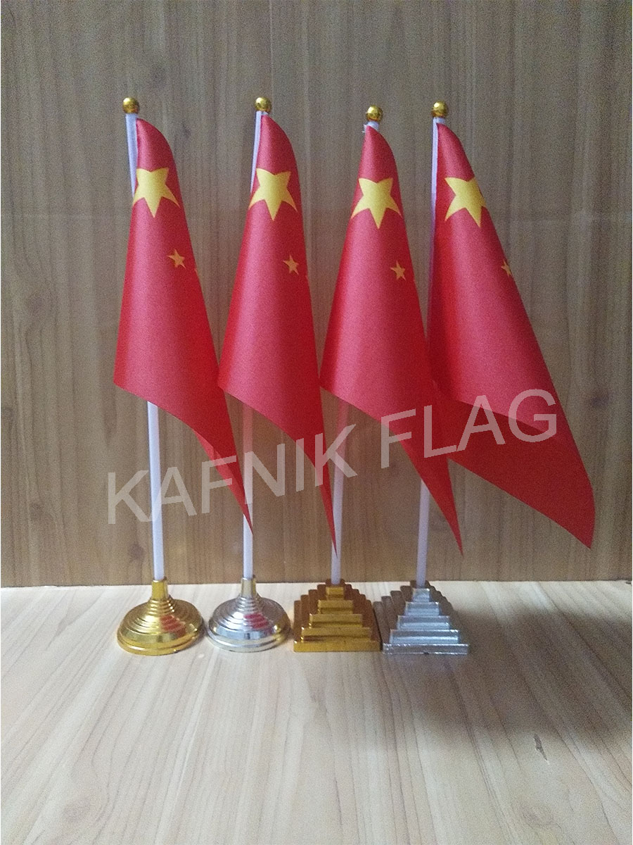 Flags, Banners & Accessories Kafnik,5/10pcs A Lot Chinese Table Desk Flag Banner 14*21cm Flag /plastic Flags Or Suction Cups For Your Choice Free Shipping Shrink-Proof