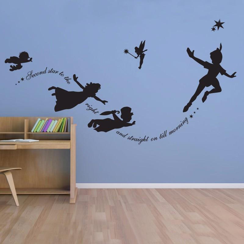 Aliexpress.com : Buy Peter Pan Wall Decal Vinyl Stickers Baby Nursery  Bedroom Wall Art Mural Kids Wall Sticker Room Decoration Cartoon Home Decor  From ... Part 47