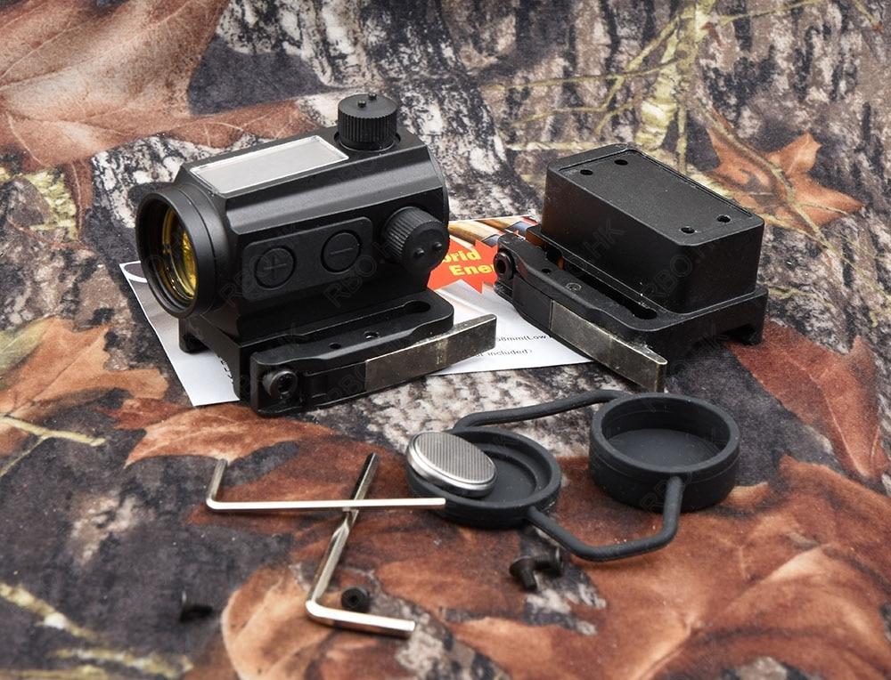 Tactical Solar Power 1x Red Dot Sight Scope Qd Picatinny Rail Mount Hunting Shooting M2482 element larue tactical spr m4 scope mount qd