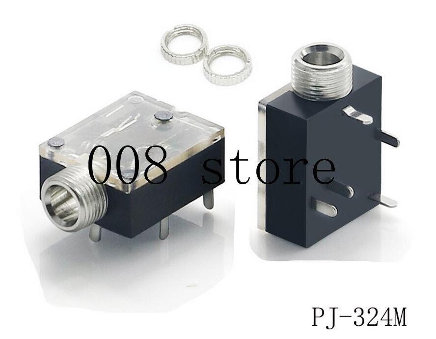 5Pcs 5 Pin 3.5mm Audio Jack Socket PCB Panel Mount for Headphone With Nut PJ-324M5Pcs 5 Pin 3.5mm Audio Jack Socket PCB Panel Mount for Headphone With Nut PJ-324M