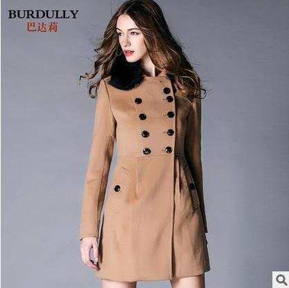 US $97.93 30% di SCONTO|BURDULLY 2019 Nuovo 2XL Inverno pelliccia di volpe collare cashmere Giubbotti Donne Cappotti modelli femminili nel lungo