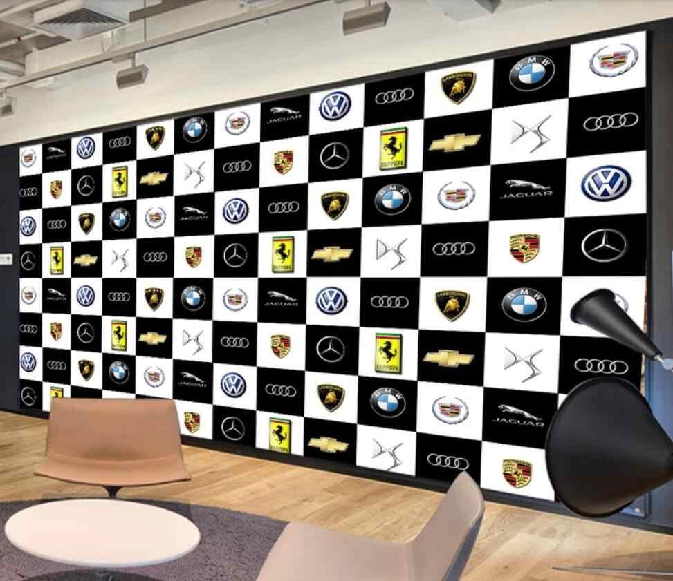Eropa Dan Amerika 3d Merek Mobil Mewah Industri Otomotif Mural Dinding Latar Belakang Dekorasi Wallpaper Mural Kain Tekstil Pelapis Dinding Aliexpress