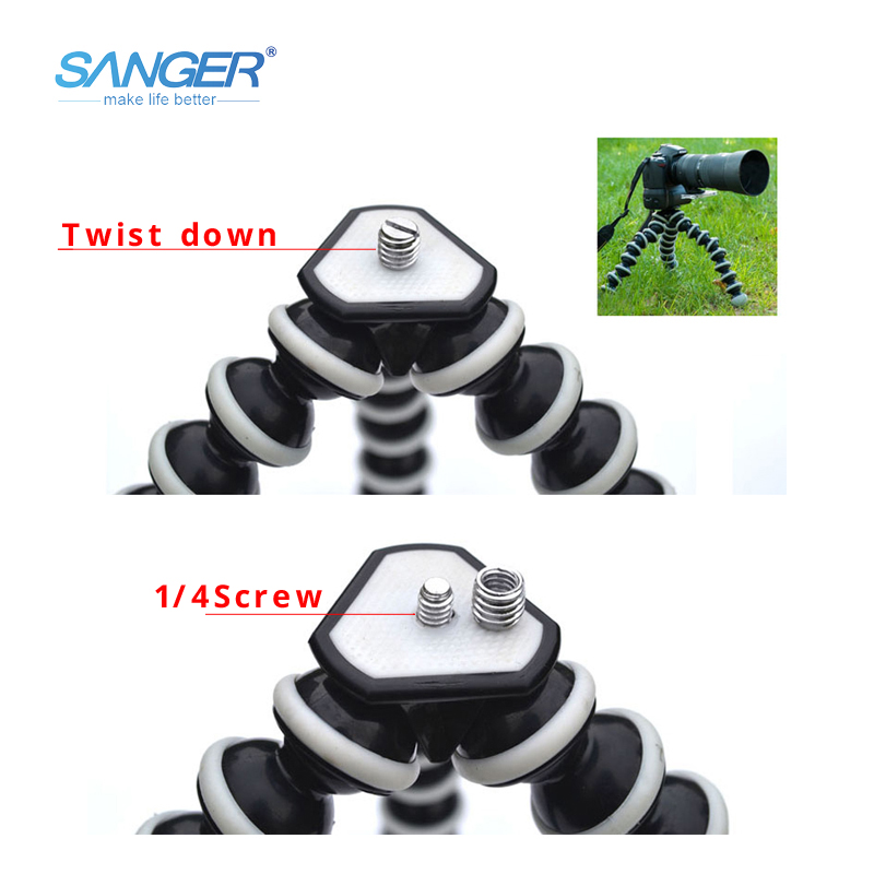 Sanger Slr Action Camera Mobile Phone Octopus Tripod+mount Adapter Stand+clip Small/medium/large With Bluetooth Remote Control Back To Search Resultsconsumer Electronics Live Tripods