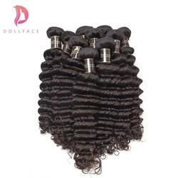 Бразильский девственные волосы глубокая волна 100 необработанные природные Цвет человеческих волос Weave Связки 10 Связки Бесплатная доставка