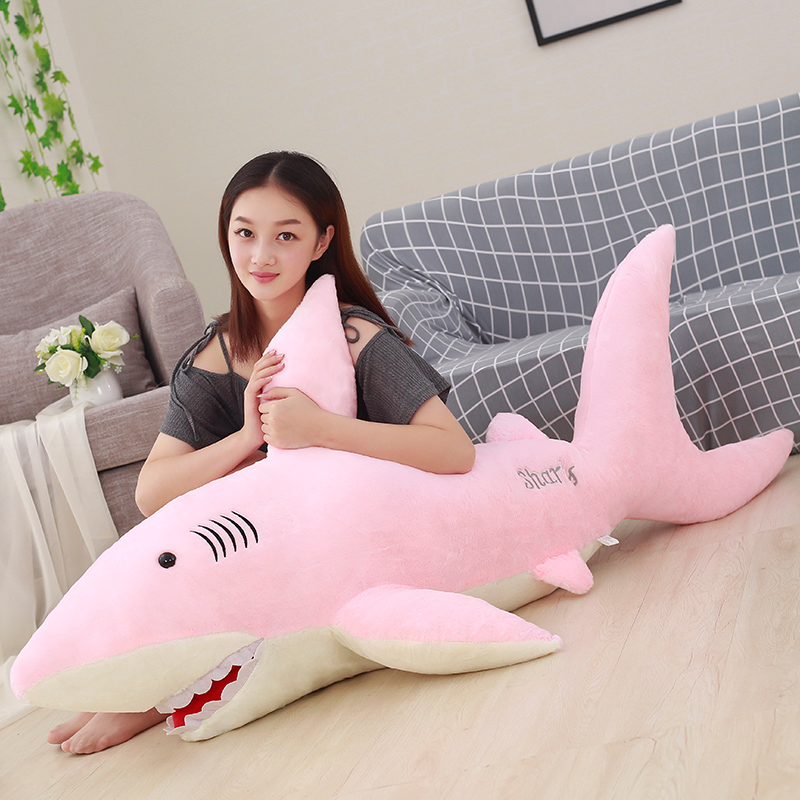 50cm-130cm Giant Plush Sharks Toys Stuffed Animals Simulation Fish Doll Pillows Cushion Kids Toys For Children Birthday Gifts