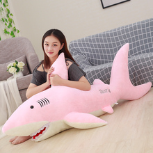 50cm-130cm Giant Plush Sharks Toys Stuffed Animals Simulation Fish Doll Pillows Cushion Kids Toys for Children Birthday Gifts 220cm stuffed animals giant removable crocodile doll for decorative pillows kids toys valentines day gift juguetes brinquedos