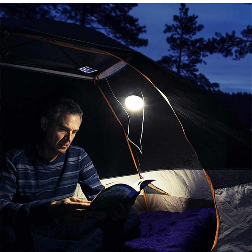 Многофункциональный Солнечный портативный светодиодный фонарь для кемпинга 4 режима освещения Открытый USB Белый свет Lamparas 40JUN6