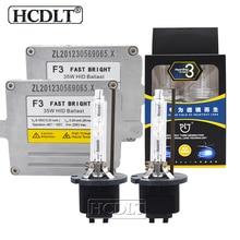 HCDLT HeartRay Xenon H1 H7 H11 HB3 D2H 35W HID Headlight Conversion Kit 4500K 5500K 6500K AC Fast Start DLT F3T HID Slim Ballast