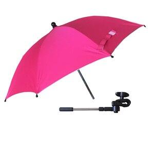 Image 4 - Wózek Parasol przenośny dziecko kolorowe wózek cień Parasol do wózka 360 stopni regulowany składany wózek yoya akcesoria