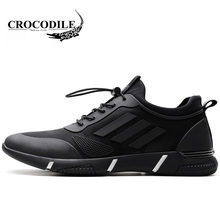 Crocodile 2018 Spring Men s Sneaker Male Outdoors Athletics Running Shoes  Breathable Height Increase Light Young Sport Shoes 814dde696cb4